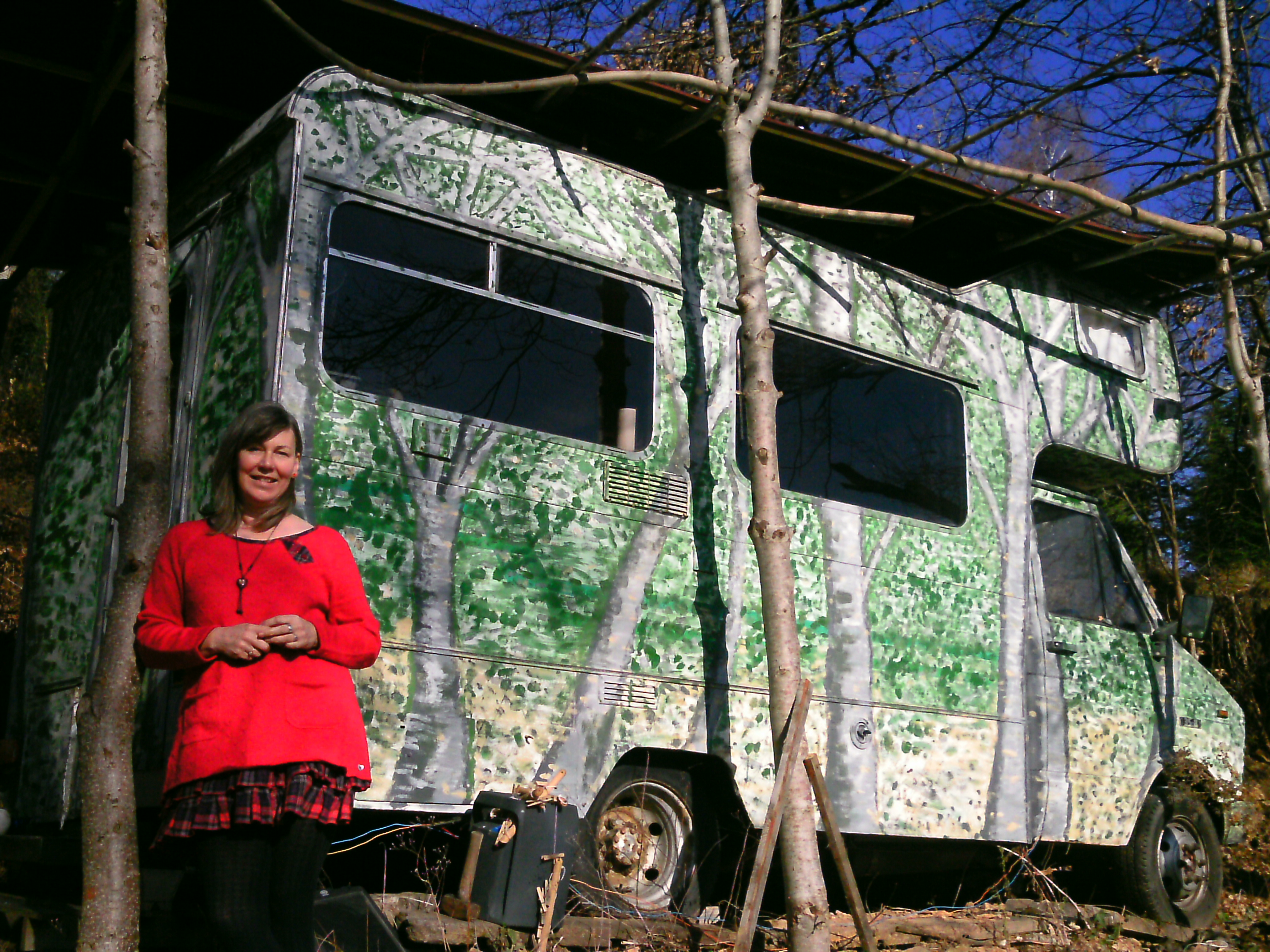 Ann and campervan